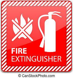 火, 消火器, 印