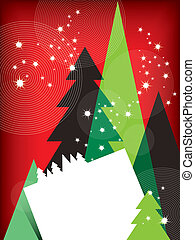 Modern Christmas Greetings Card Vector Illustration eps10