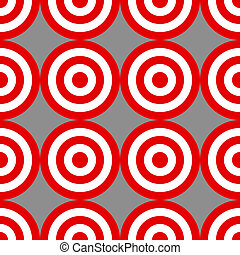Seamless pattern of targets over grey