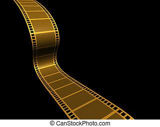 Strip film - A conceptual strip film on black background -...
