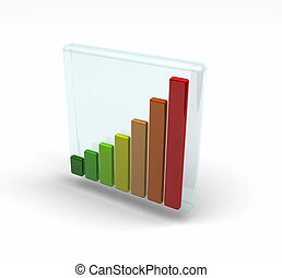 Energy consumption grades - bar charts in different colours...