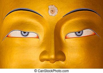 Maitreya Buddha, Buddha of the Future, Thiksey Gompa,...