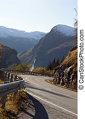Road to Geiranger, Norway - Curvy steep road to the world...