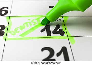 Appointment - Claendar with dentist apointment on the 14-th...
