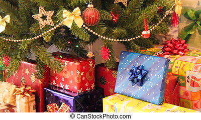 Gifts and christmas tree