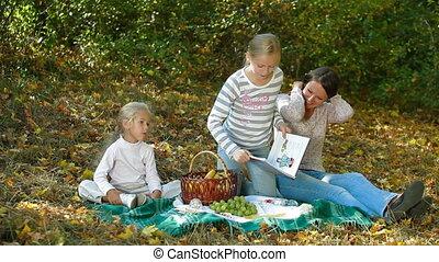 Family Enjoying Autumn Day