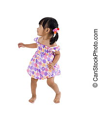 lilttle girl with defensive posture