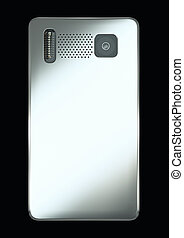 Rear view of smart phone: camera and flash