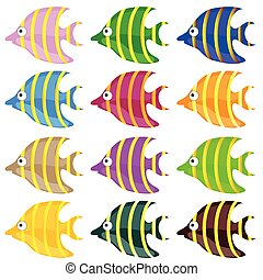 sweet and funny fish color vector illustrtion