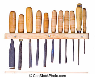 woodworking tools - tools for woodworking isolated