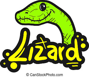 Green lizard - Creative design of green lizard