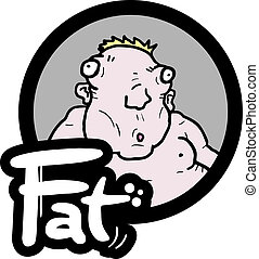Icon fat baby - Creative design of icon fat baby