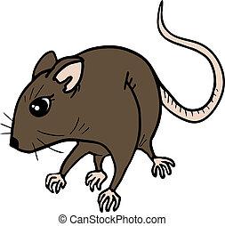Brown rat - Creative design of brown rat