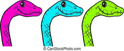 Color reptile style - Creative design of color reptile style