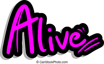 Alive fashion sticker - Creative design of alive fashion...