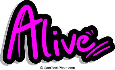 Alive fashion sticker - Creative design of alive fashion...