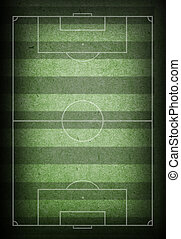 soccer field background - soccer field with grunge paper...