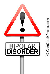 Bipolar disorder concept - Illustration depicting a roadsign...