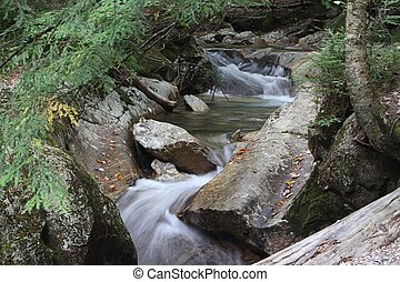 Franconia Brook - Brook in Franconia State Park New...