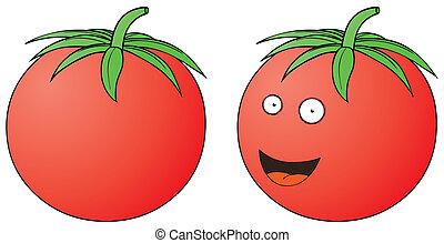 smiling tomato
