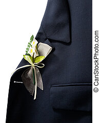 Wedding decoration - Lapel of suit jacket with floral...