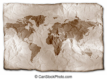 Earth on paper