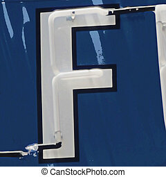 Painting of the letters F
