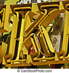 Painting of the letters K