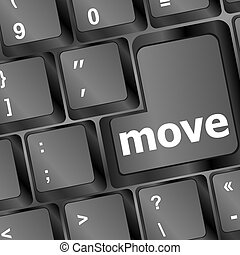 Move button word on black keyboard