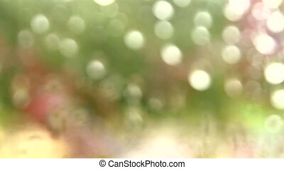 Soft focused window raindrops