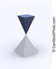 Equilibrium - Conceptual two pyramid in equilibrium -...