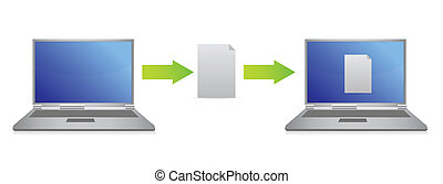 file transfer illustration design over white background