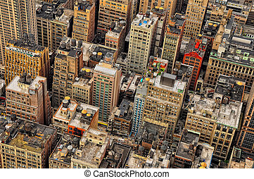 New York streets birds view - New York streets bird's view,...
