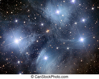 Pleiades M45 - open star cluster in the constellation of...