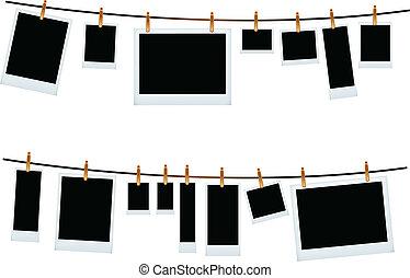 photo frame set - vector illustration of photo frame set