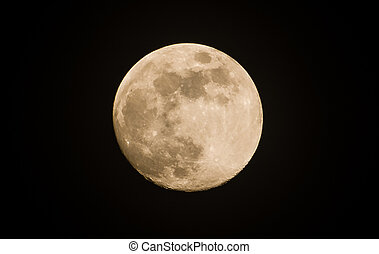 Moon on the dark