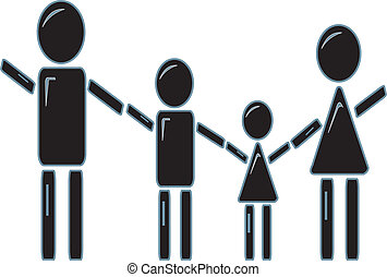 Stick Figure Family Holding Hands