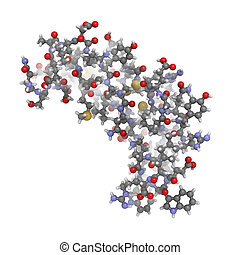 human epidermal growth factor (hEGF), chemical structure. -...