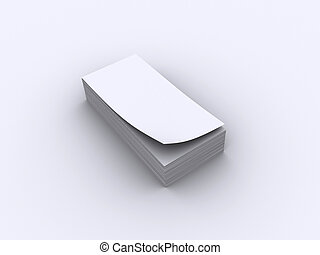Papers stack - A blank stack of paper on white - rendered in...
