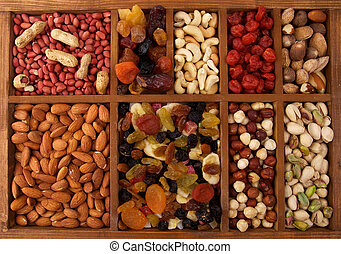Dried Friits and Nuts - Arrangement of Dried Friits and Nuts...