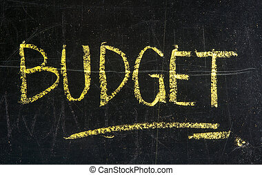 Word of budget written on a blackboard