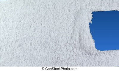 snow stripe - Window stripe drawn on snow background with...