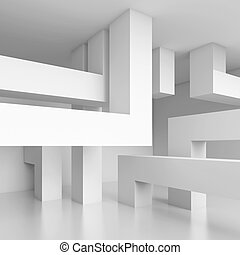 Abstract Technology Background - 3d Illustration of Abstract...