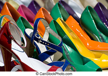 colorful shoes - group of colorful shoes