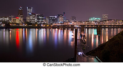 Hawthorne Bridge and Portland - The Hawthorne Bridge stands...