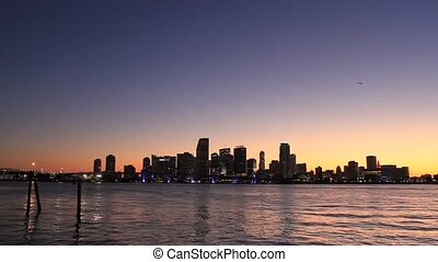 Miami Beach Skyline at sunset