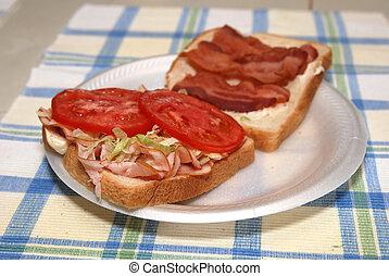 BLT with Turkey Sandwich