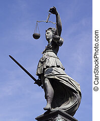 Lady Justice - Statue of Lady Justice in front of the Romer...