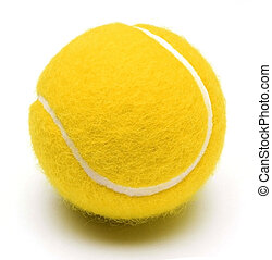 tennis ball on white backgriund