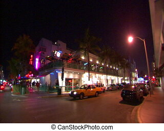 Ocean Drive in South Beach - Driving on Ocean Drive in South...